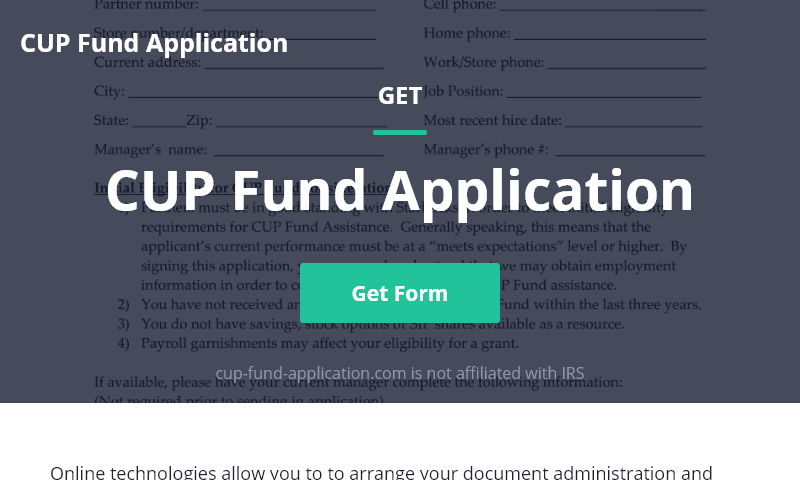 cup-fund-application.com