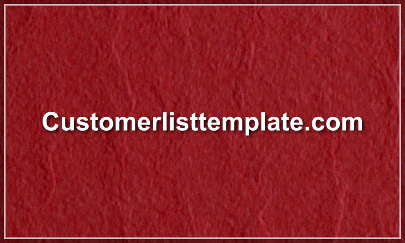 customerlisttemplate.com