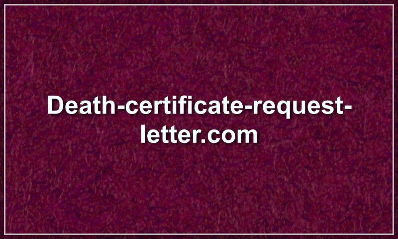 death-certificate-request-letter.com