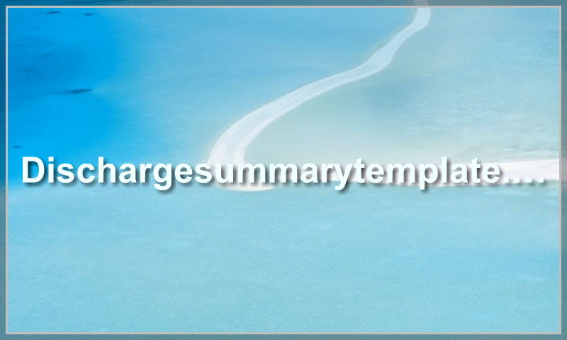 dischargesummarytemplate.com