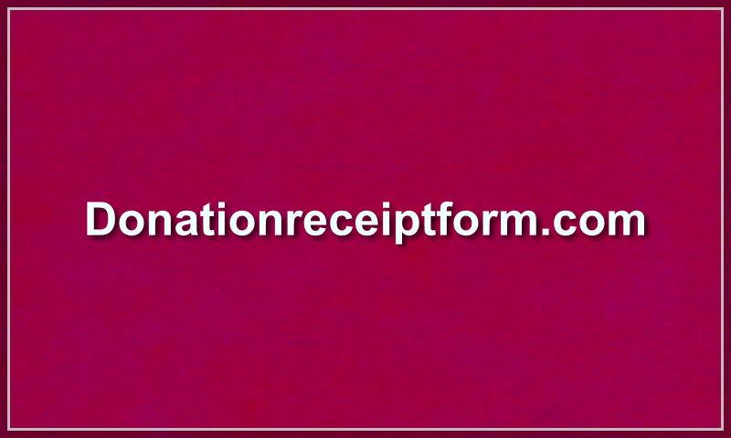 donationreceiptform.com