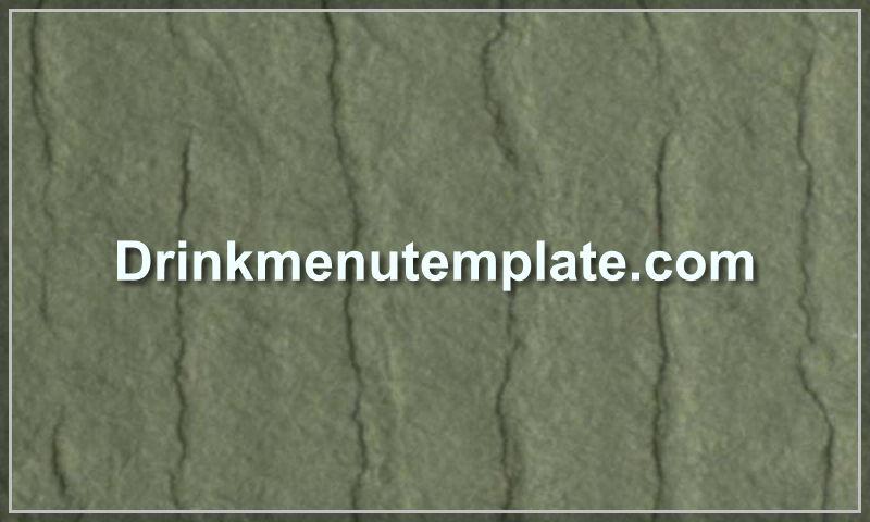 drinkmenutemplate.com