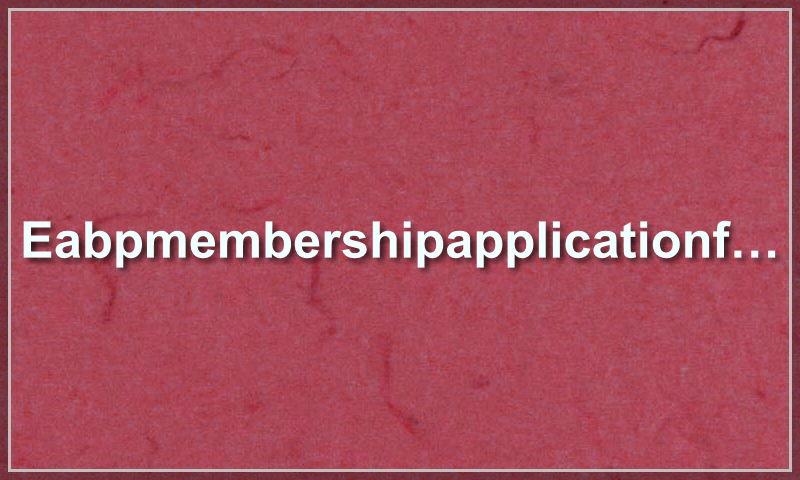 eabpmembershipapplicationform.com