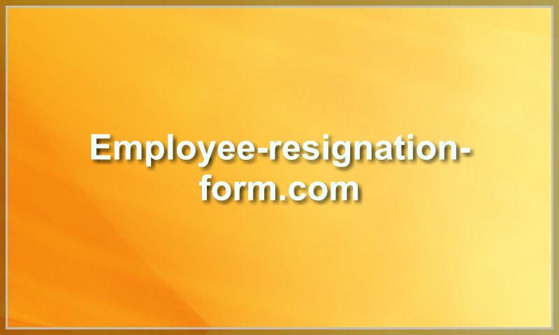employee-resignation-form.com