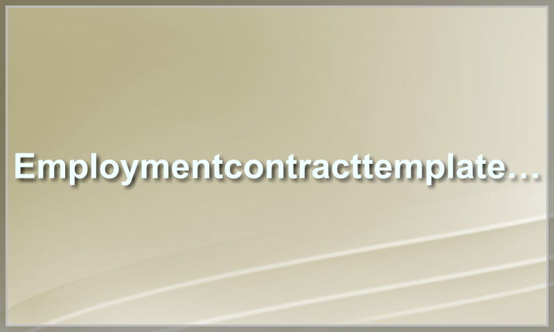 employmentcontracttemplate.com