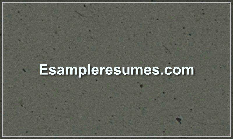 esampleresumes.com