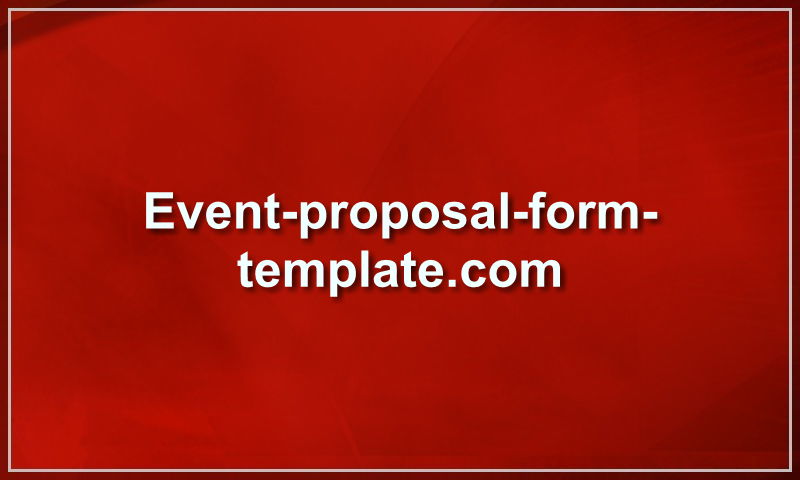 event-proposal-form-template.com