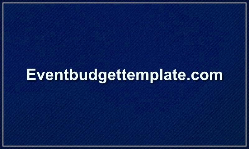 eventbudgettemplate.com