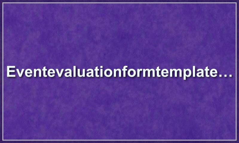 eventevaluationformtemplate.com