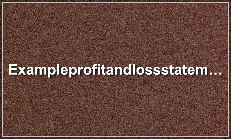 exampleprofitandlossstatement.com