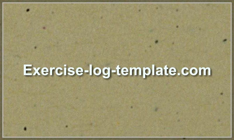 exercise-log-template.com