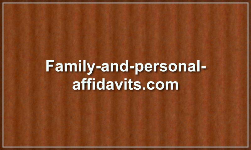 family-and-personal-affidavits.com