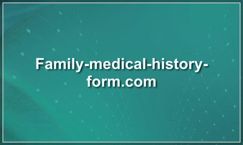 family-medical-history-form.com