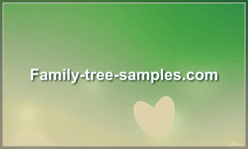 family-tree-samples.com