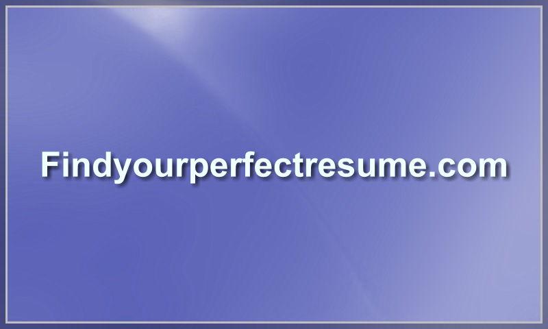 findyourperfectresume.com