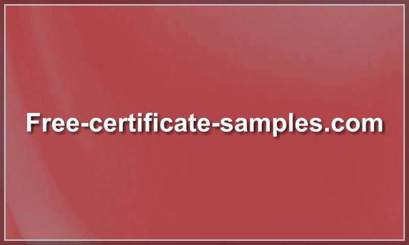 free-certificate-samples.com
