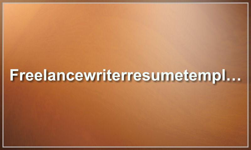 freelancewriterresumetemplate.com