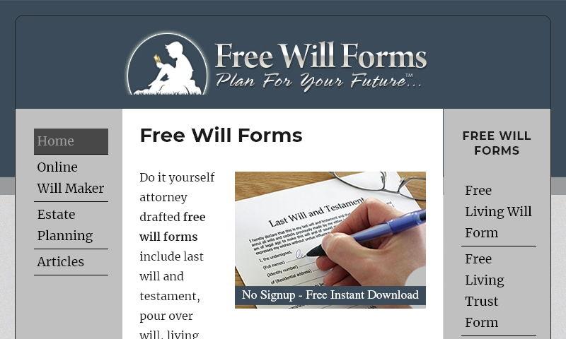 freewillforms.com