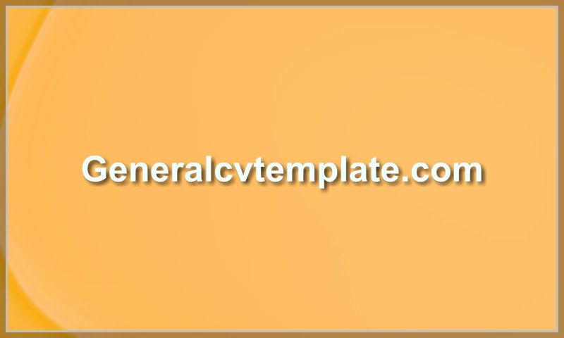generalcvtemplate.com