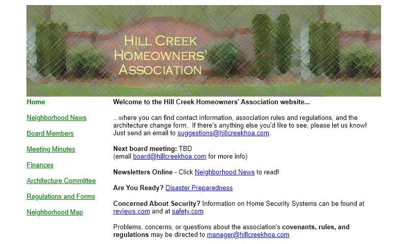 hillcreekhoa.com