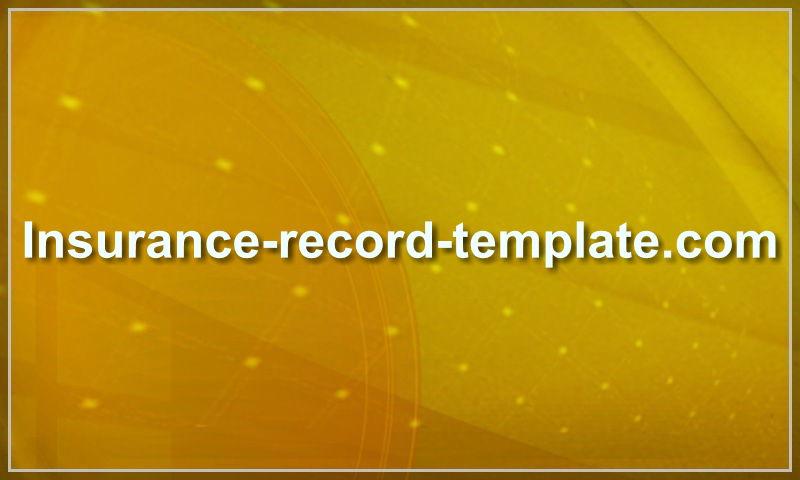 insurance-record-template.com