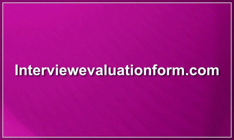 interviewevaluationform.com