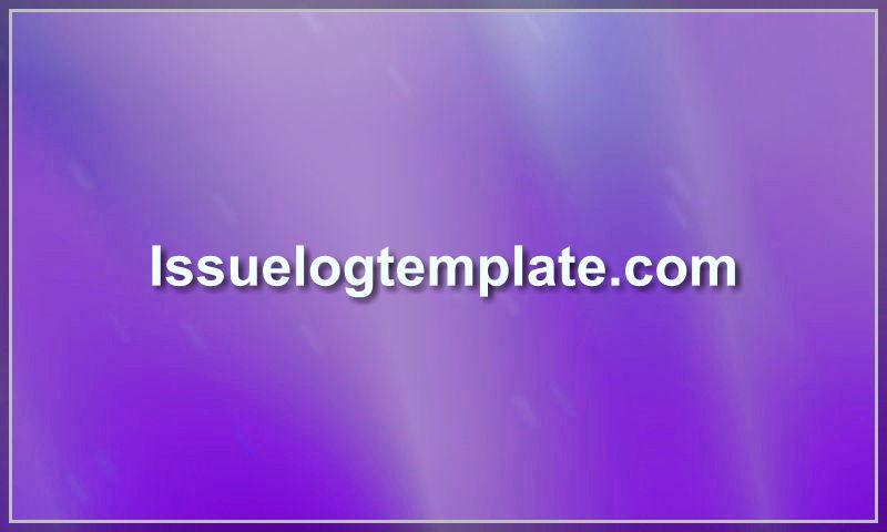 issuelogtemplate.com