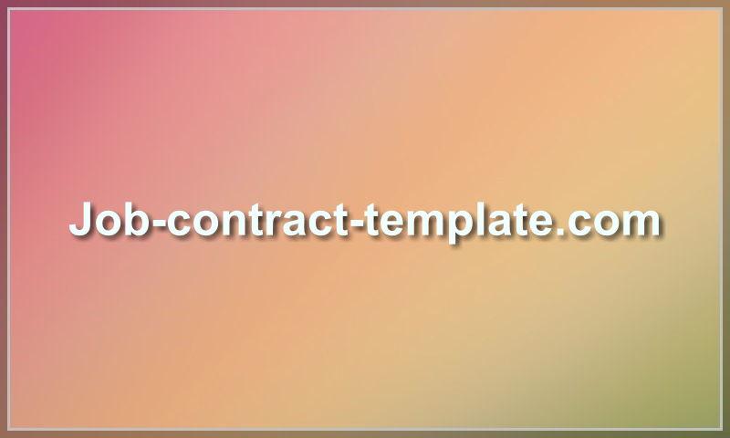 job-contract-template.com