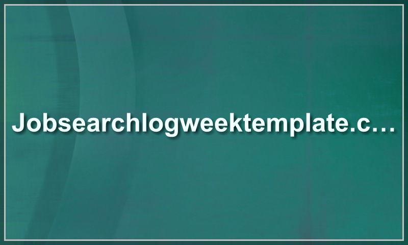 jobsearchlogweektemplate.com