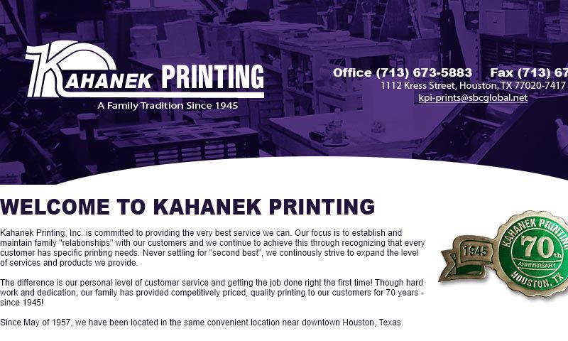 kahanekprinting.com