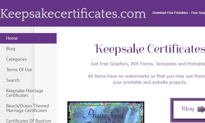 keepsakecertificates.com