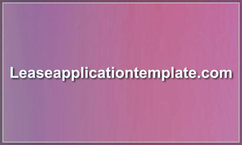 leaseapplicationtemplate.com