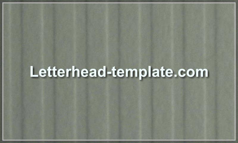 letterhead-template.com