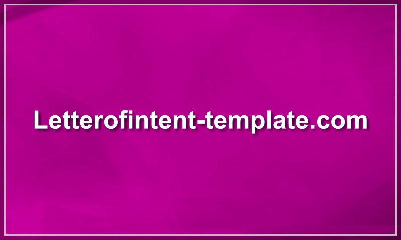 letterofintent-template.com