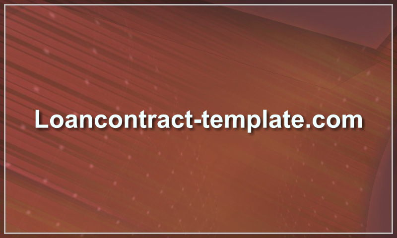 loancontract-template.com