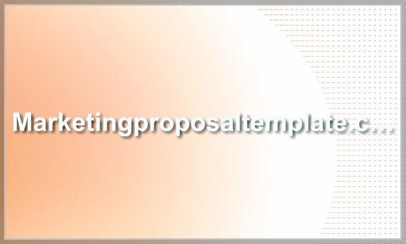 marketingproposaltemplate.com