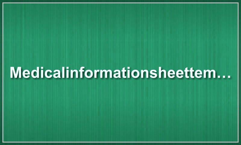 medicalinformationsheettemplate.com