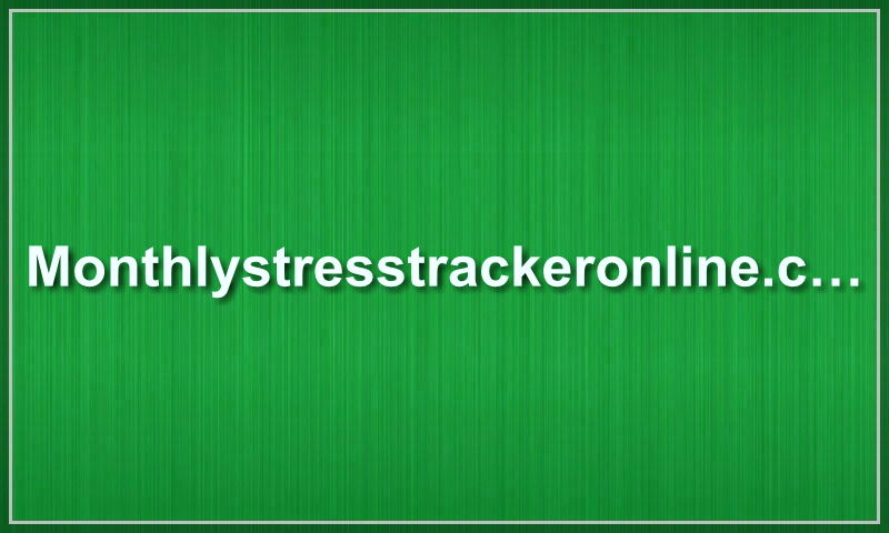 monthlystresstrackeronline.com