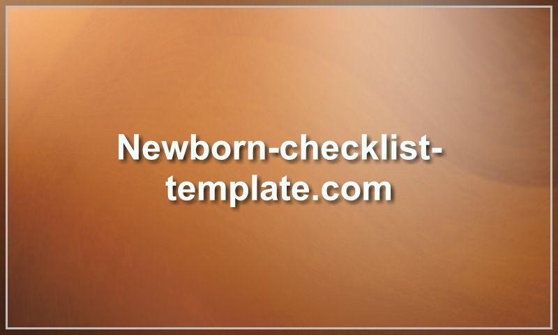 newborn-checklist-template.com