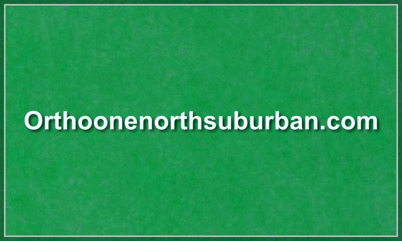 www.orthoonenorthsuburban.com