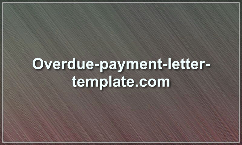 overdue-payment-letter-template.com