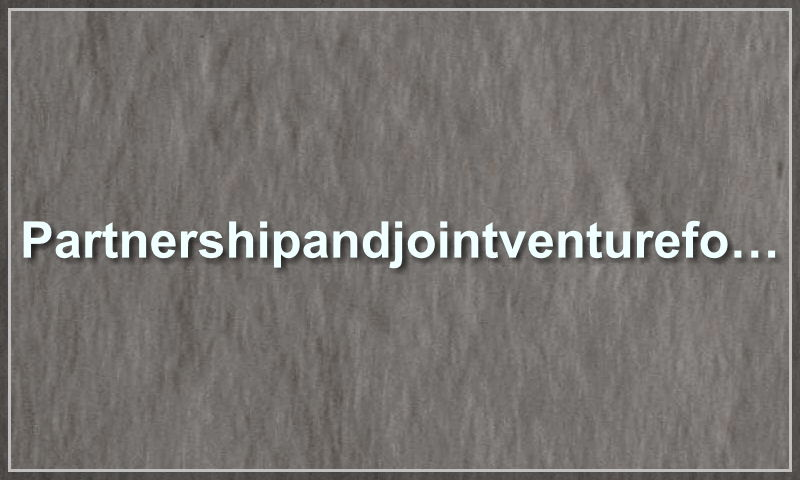 partnershipandjointventureform.com