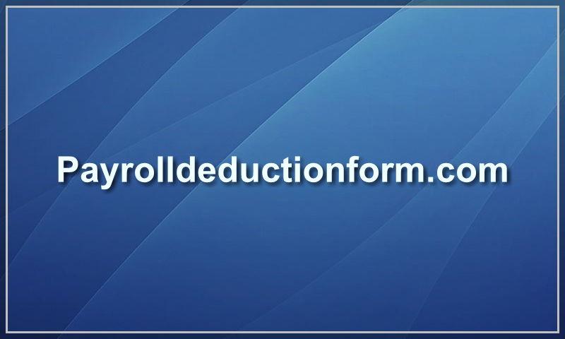 payrolldeductionform.com