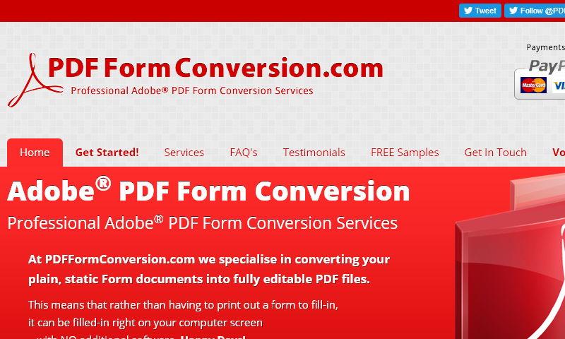 pdfformconversion.com