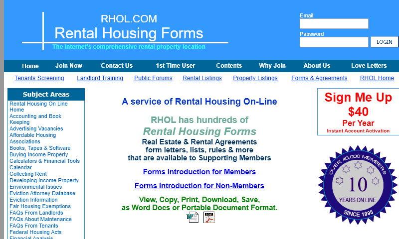 rentalhousingforms.com