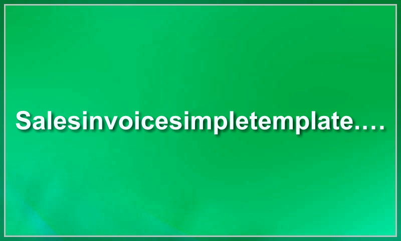 salesinvoicesimpletemplate.com