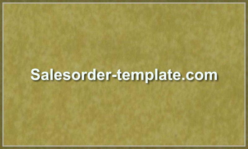 salesorder-template.com