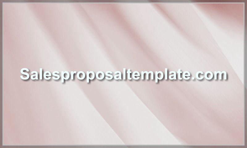 salesproposaltemplate.com