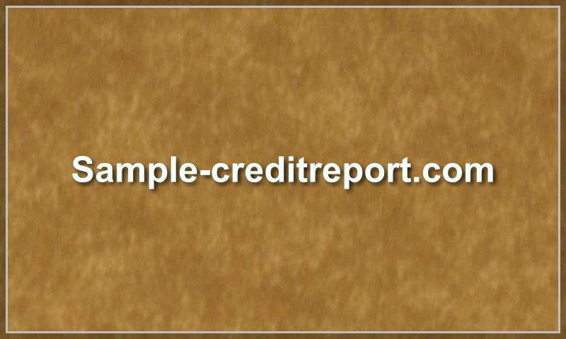 sample-creditreport.com