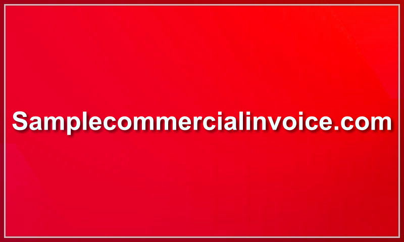 samplecommercialinvoice.com